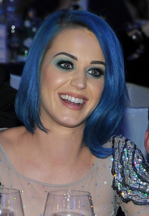 medium blue bob hairstyle 2016
