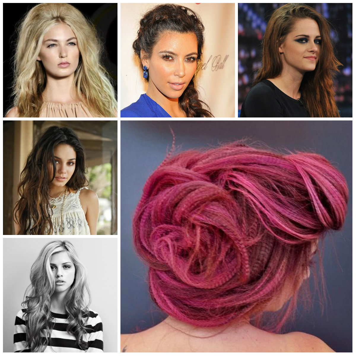 messy hairstyles for long hair 2016