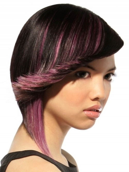 pinkish highlights for black hair 2016