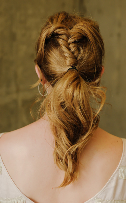 ponytail with fish braid 2016