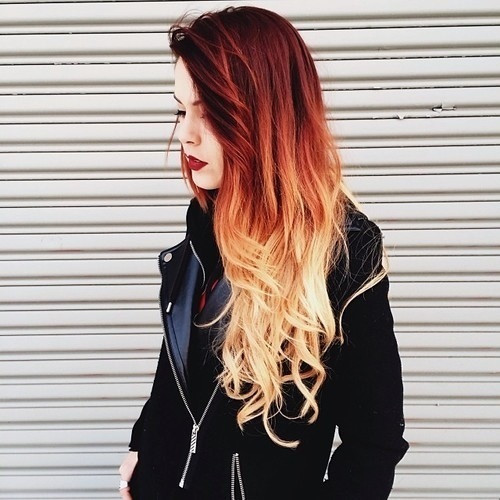 red ombre hair 2016