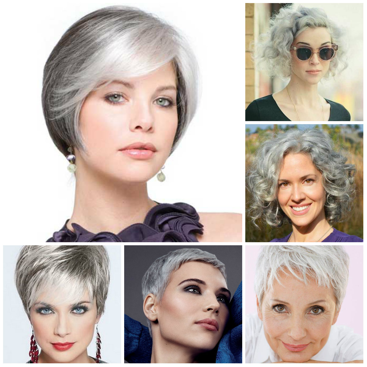 short grey hairstyles for 2016