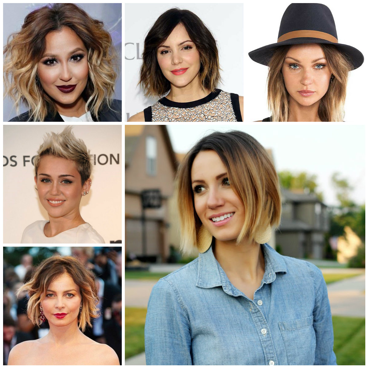 2016 Trendy Short Haircuts In Ombre Hair Colors 2019 Haircuts