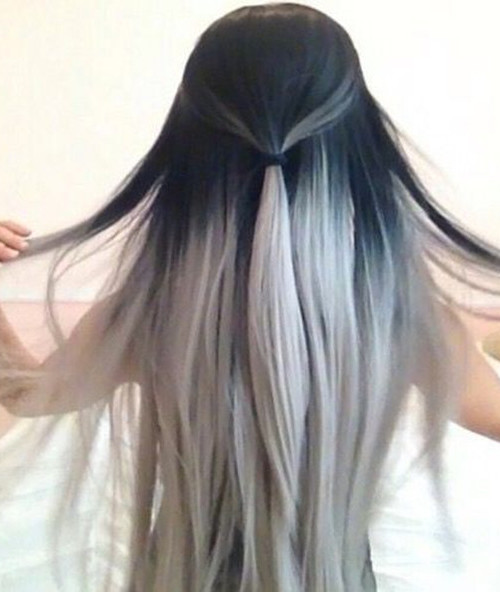 silver ombre hair color 2016