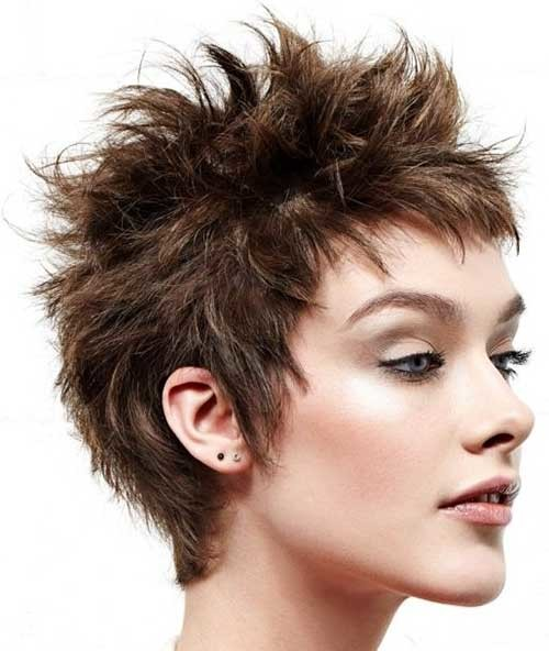 spiky hairstyle for women 2016