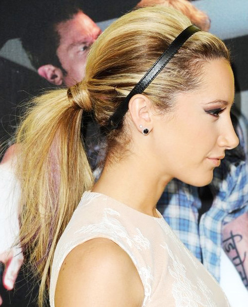 teased ponytail hairstyle 2016