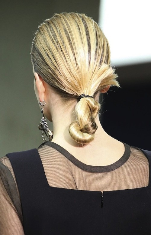 twisted chignon hairstyle 2016