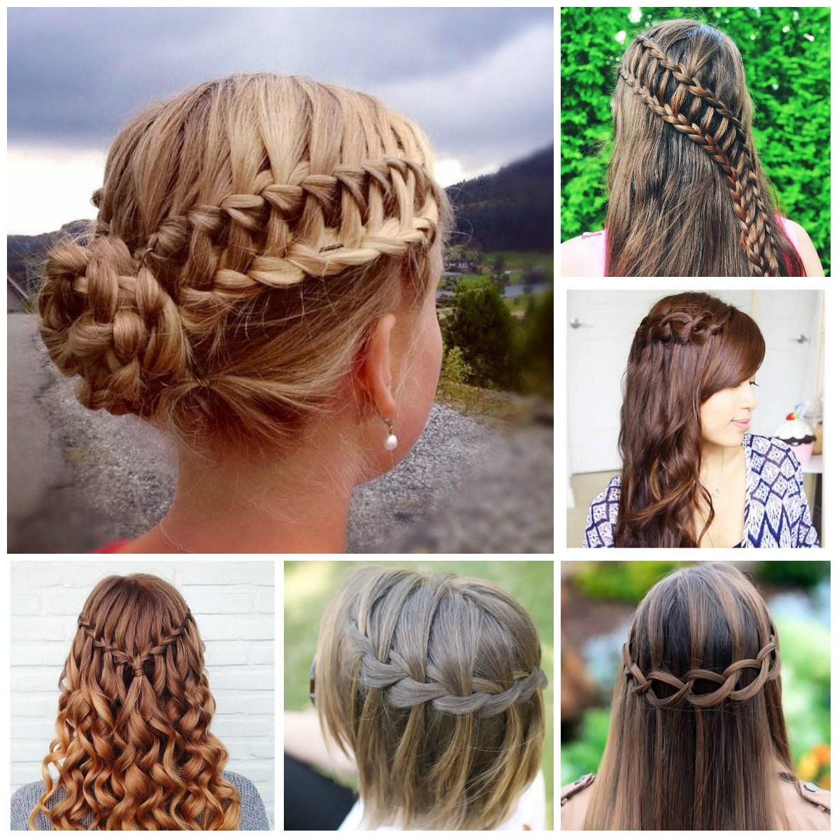 how to end waterfall braid