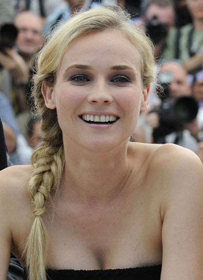 Diane Kruger side braid hairstyle 2016