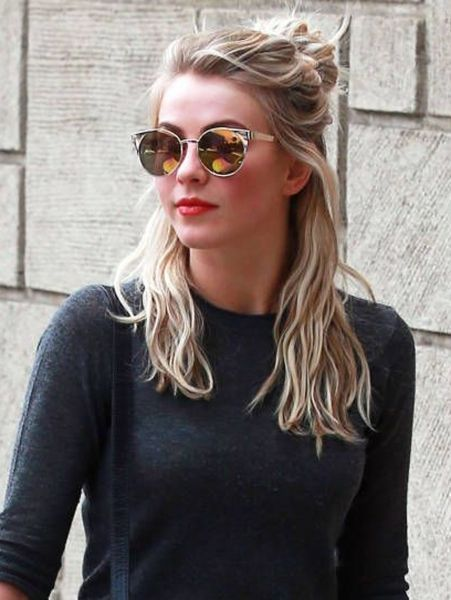 JULIANNE HOUGH half bun 2016