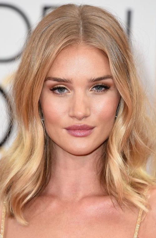 Rosie Huntington relaxed waves 2016