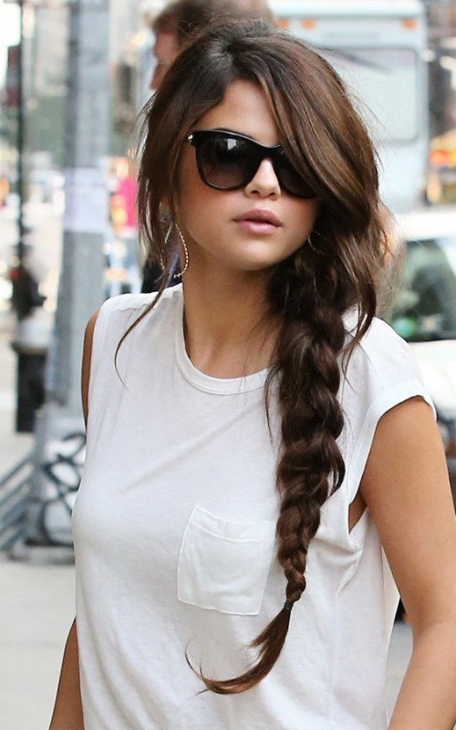 Selena Gomez braided hairstyle 2016