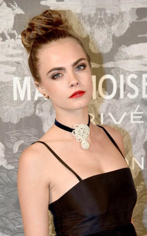 cara delevingne party updo in 2016