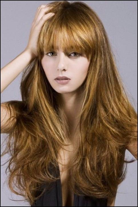 full straight fringe for long hair 2016