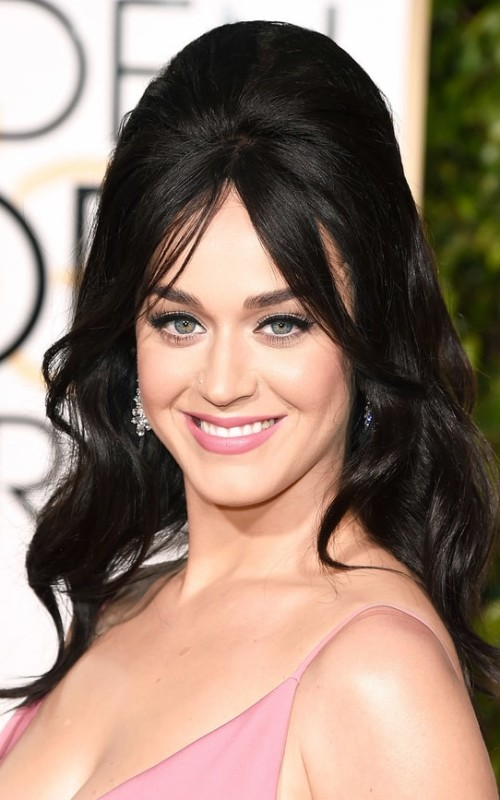katy perry half updo hairstyle 2016