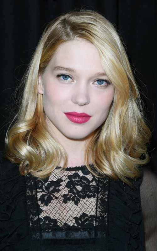 lea seydoux party hair 2016