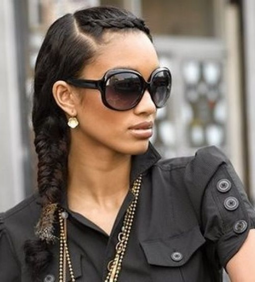 long black plait hairstyle 2016
