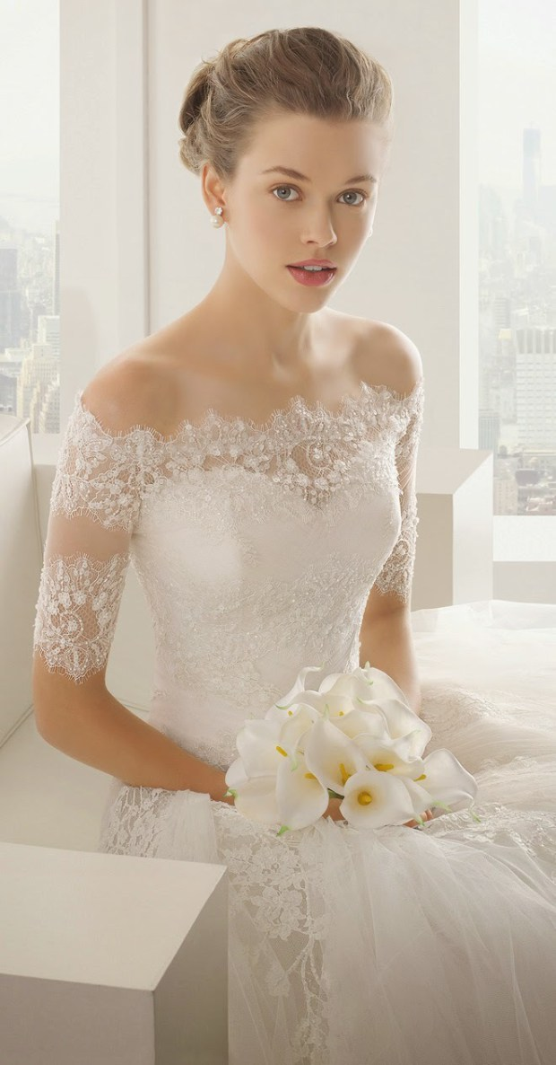 rosa clara 2016 bridal updo hairstyle idea