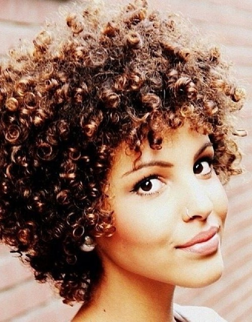 short afro curls with fringe 2016