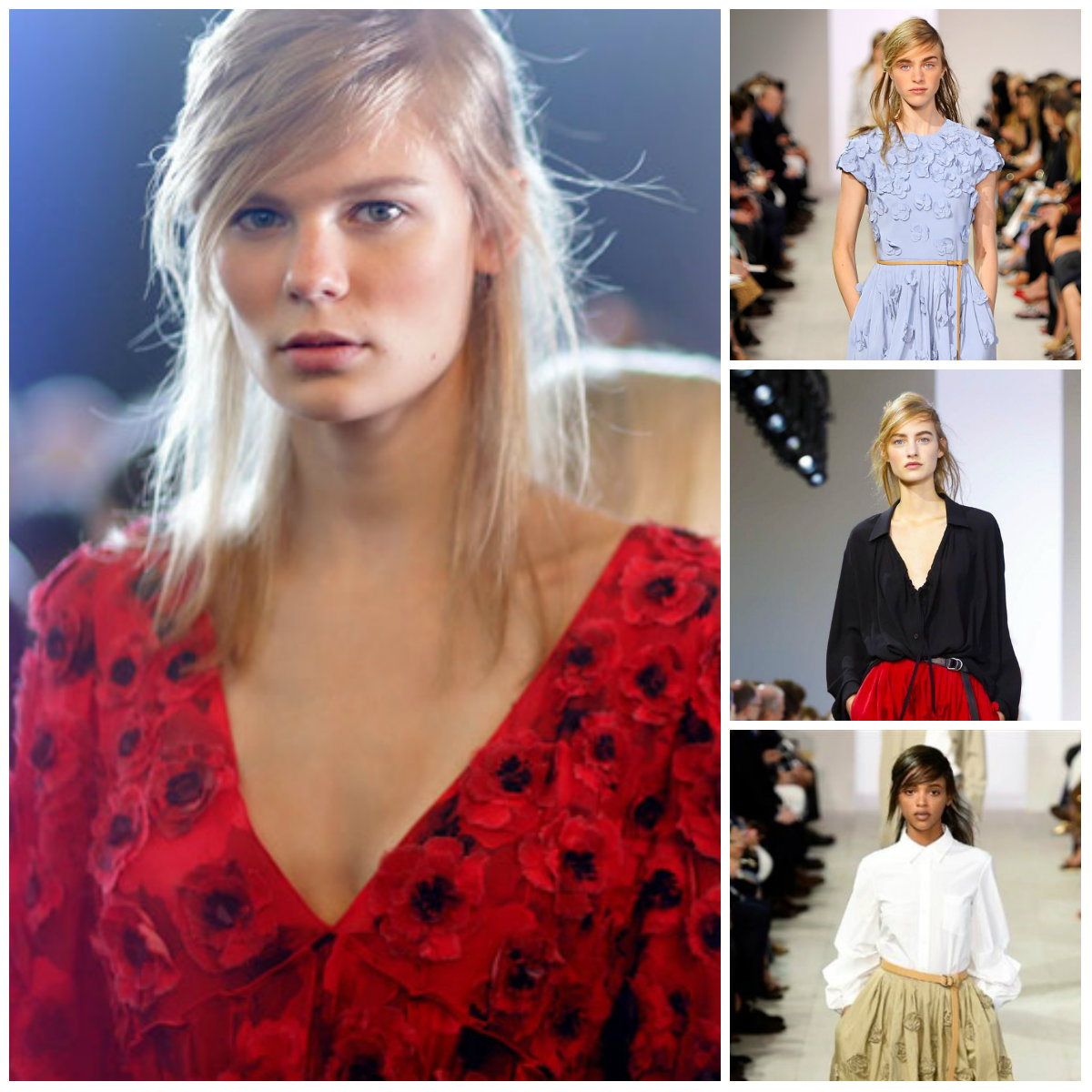 side swept hairstyles from Michael Kors SS 2016