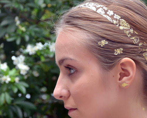 temporary headband hair tattoo 2016