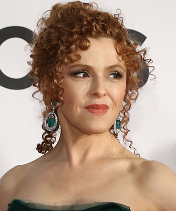 BERNADETTE PETERS curly updo 2016
