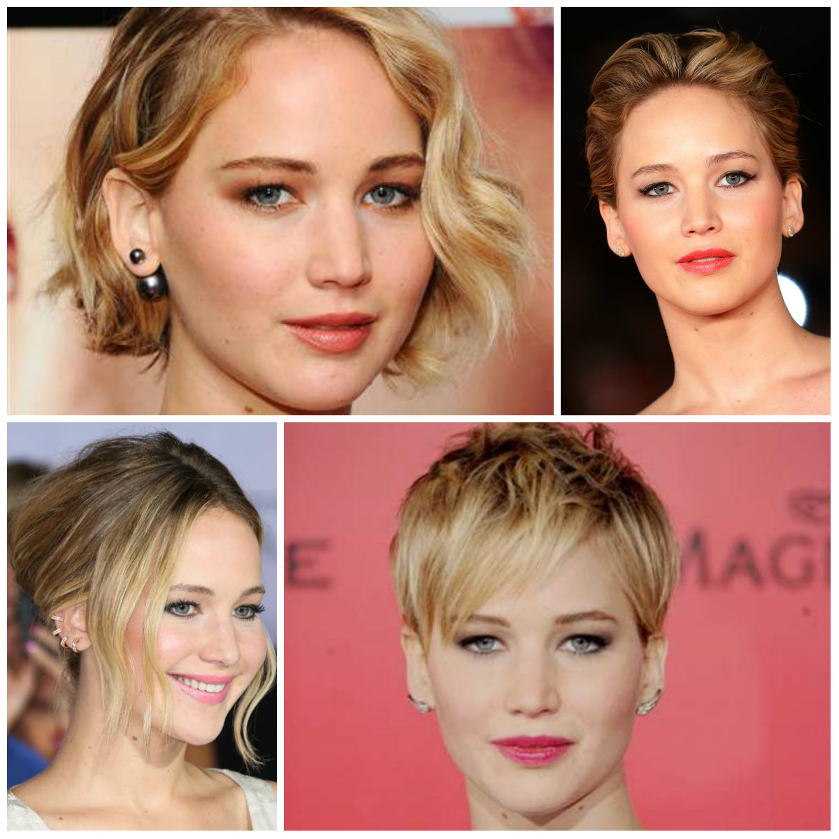 Jennifer Lawrence short hairstyles 2016