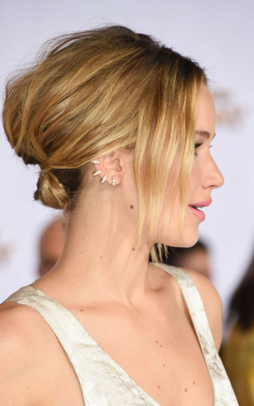 Jennifer Lawrence short updo 2016