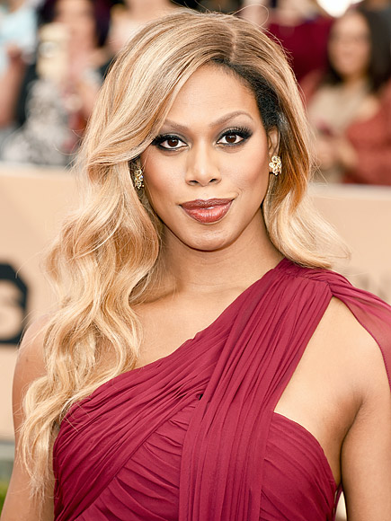 Laverne Cox 2016 wavy hairstyle