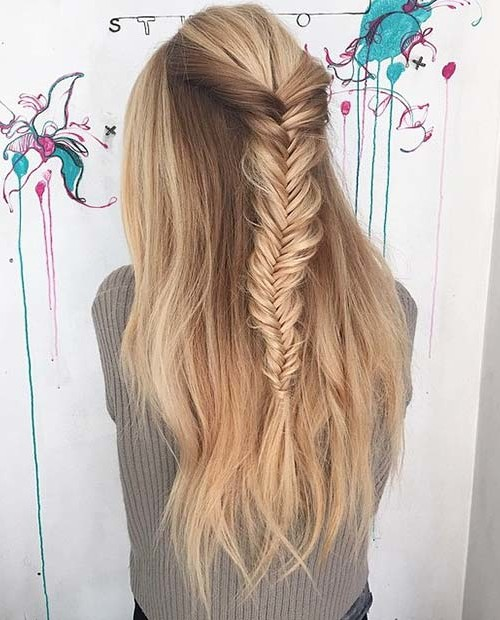 fishtail half updo hairstyle 2016