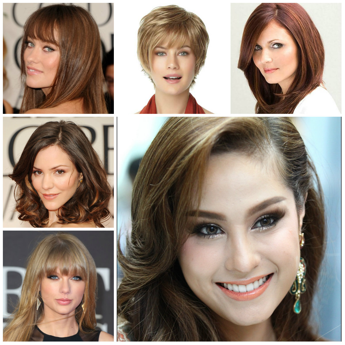 How to choose a hairstyle for hair by type of face