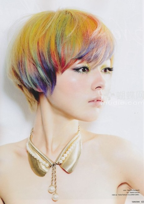 rainbow bowl bob hairstyle 2016