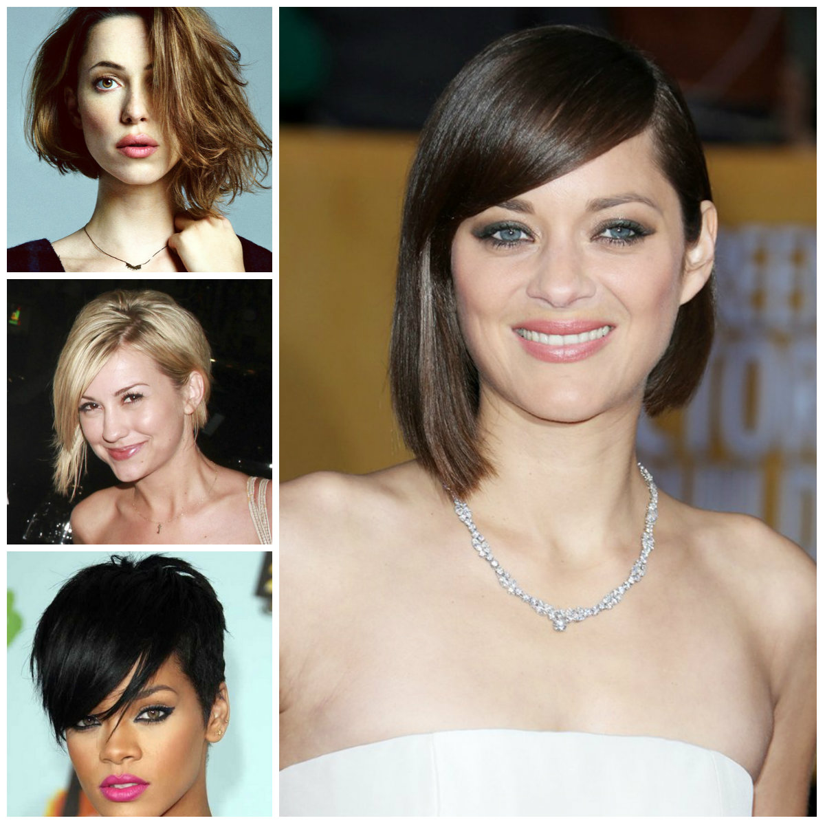 short asymmetrical haircuts celebrities 2016