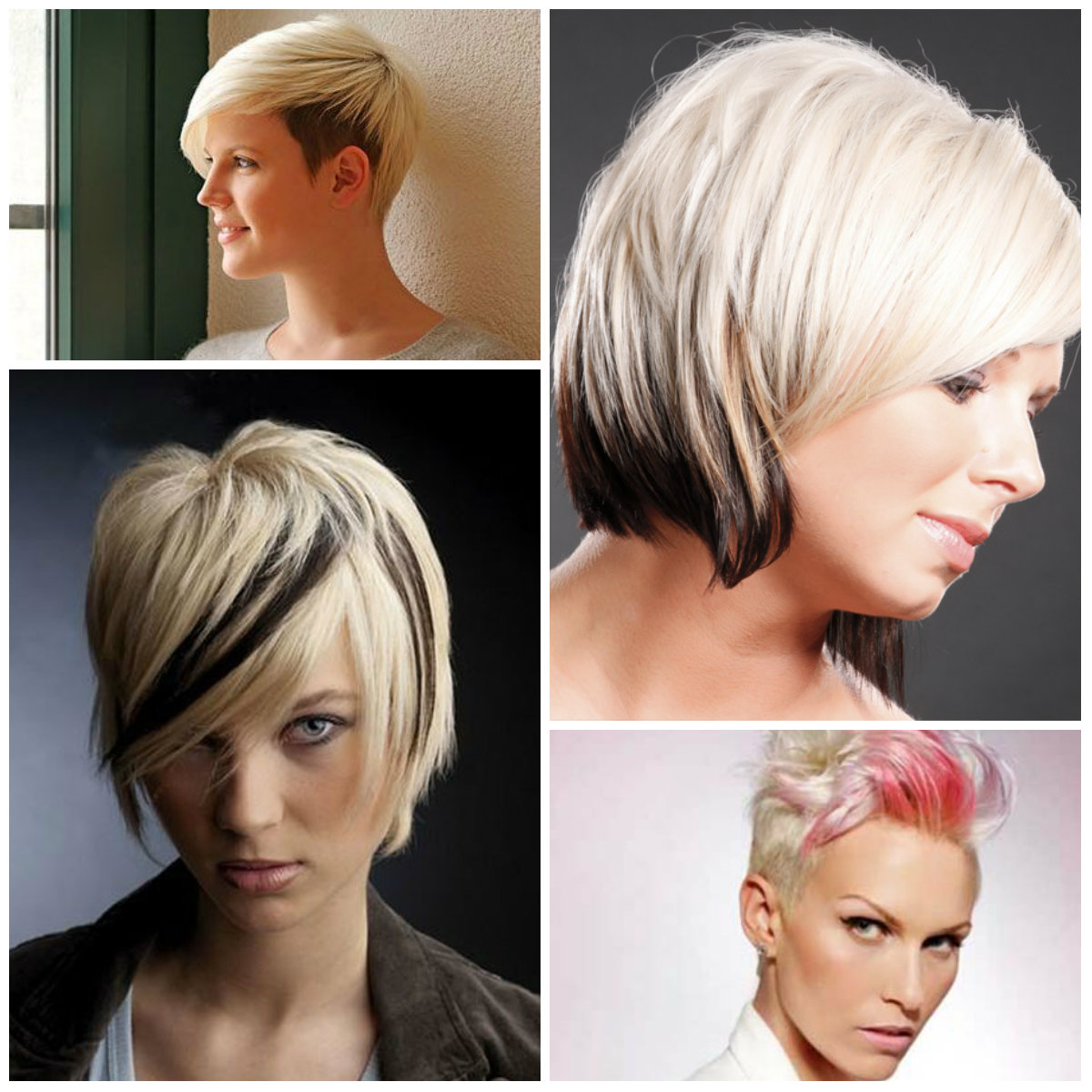 short hairstyles in two-tone hair colors 2016