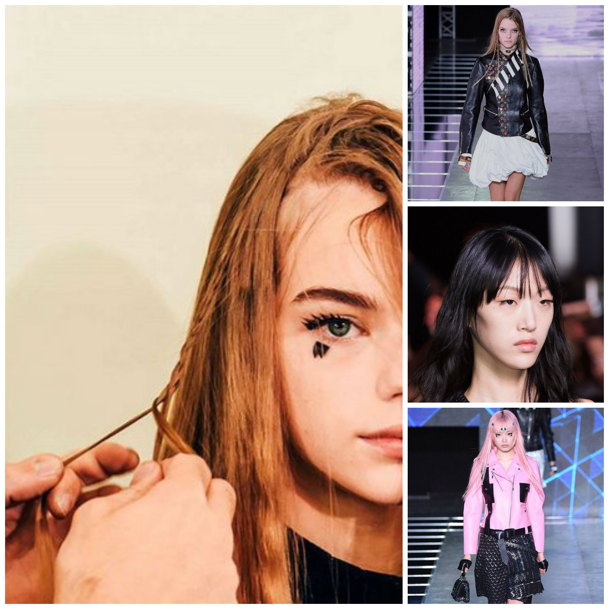 LOUIS VUITTON'S 2016 spring hairstyles