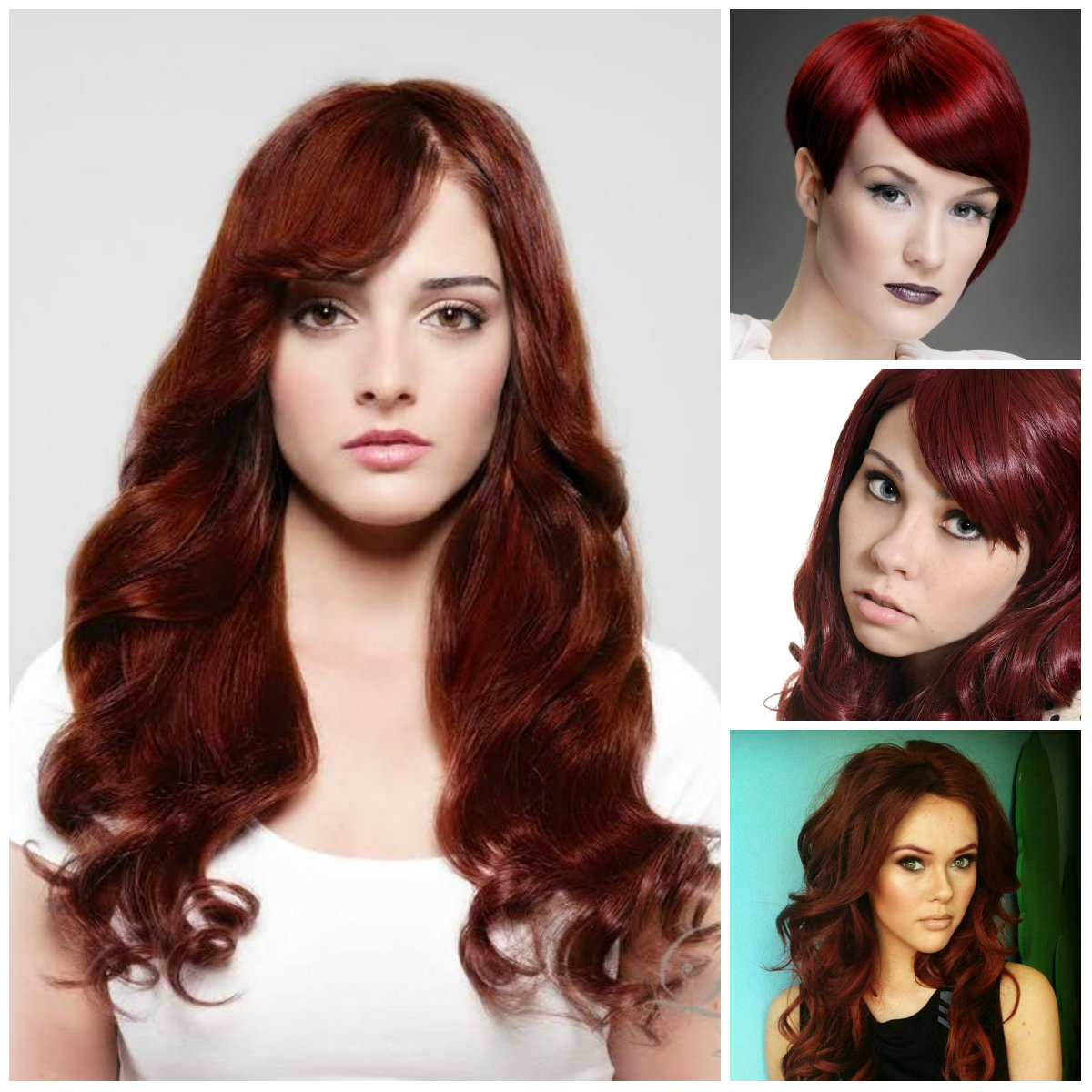 dark red hair colors 2016