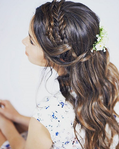 Half Updos For Thin Hair: Fancy Braided Hairstyle Inspiration For 2016