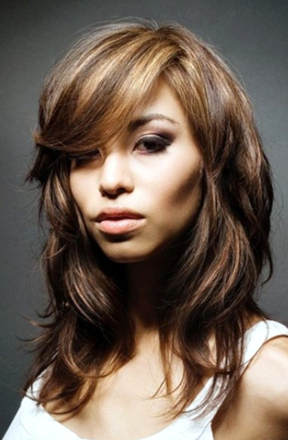 layered hair with highlights 2016