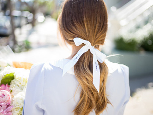 ponytail with ribbon 2016