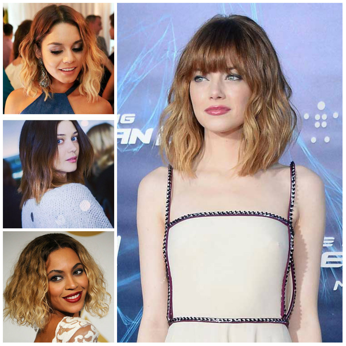 Tremendous 2016 Trendy Long Bob Hairstyles In Ombre 2017 Haircuts Hairstyles For Women Draintrainus