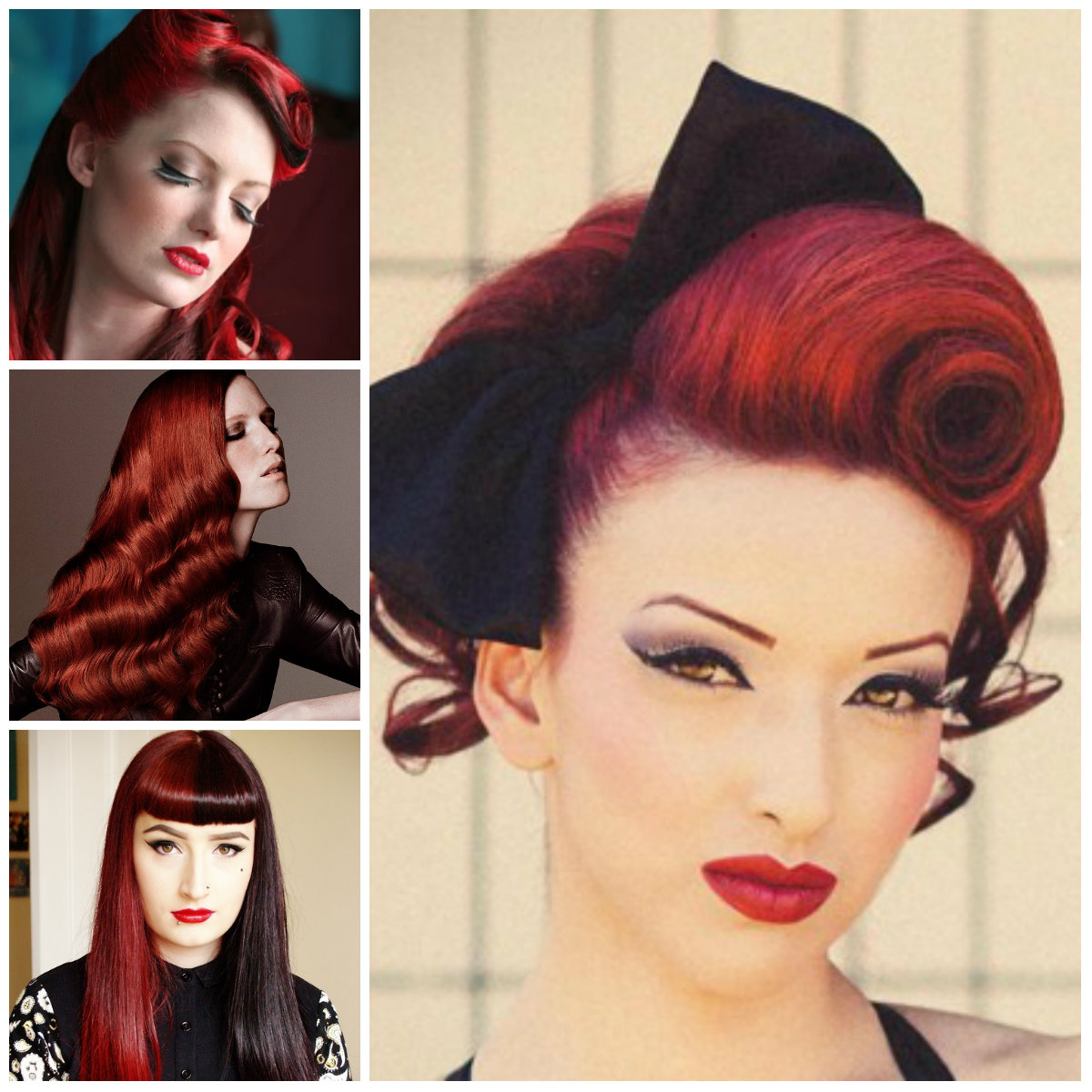 Long Retro Hairstyles on Red Hair | 2019 Haircuts ...