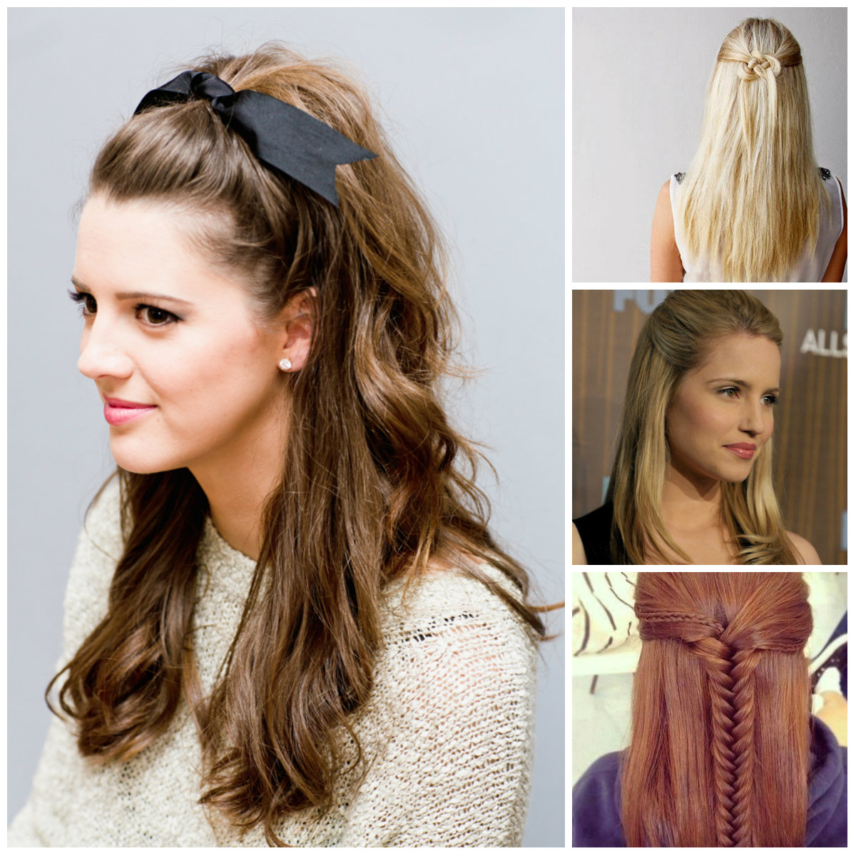 Half up half down hairstyle for 2016