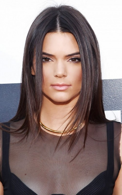 Center Parted Hairstyles By Kendall Jenner 2019 Haircuts