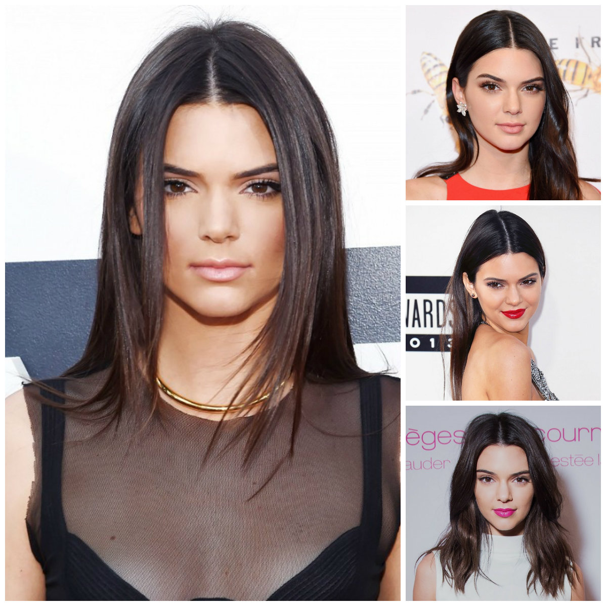 center parted hairstyles by Kendall Jenner