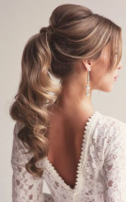 prom ponytail hairstyle for 2016