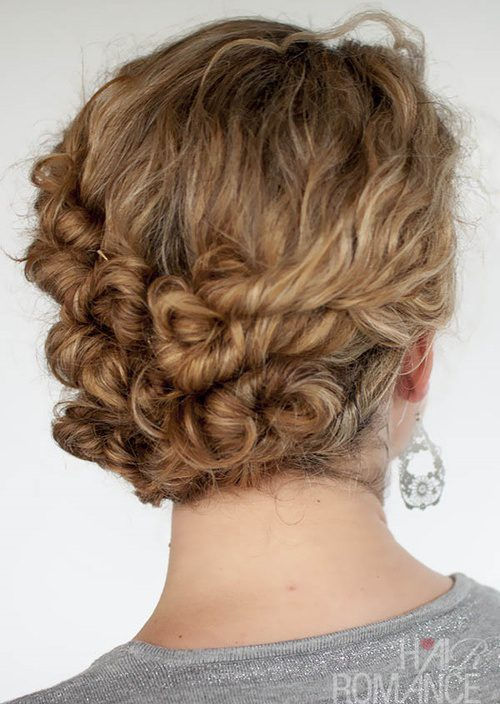 cool curly updo for girls 2016