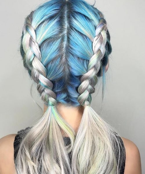 cool multi toned hair for girls 2016
