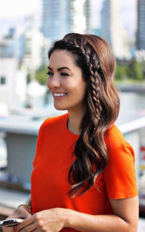 face framing braid for girls 2016