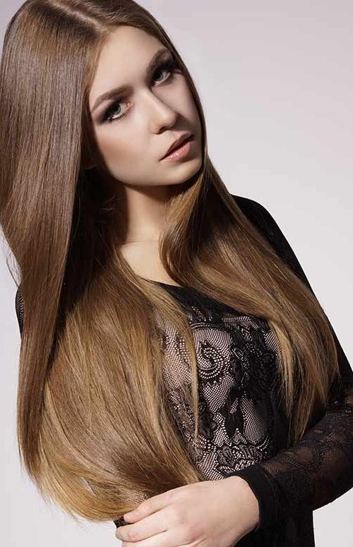 long sleek hairstyle for girls