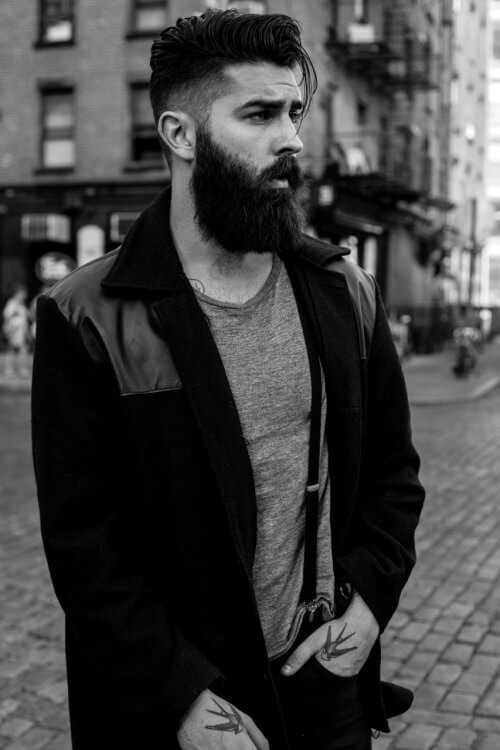 modern hairstyle with long beards